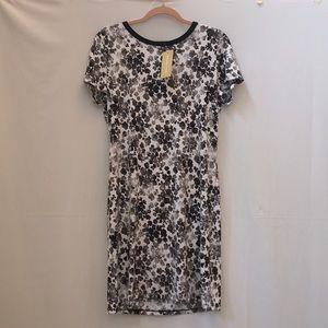 NWT Michael Kors Black & white floral dress Large
